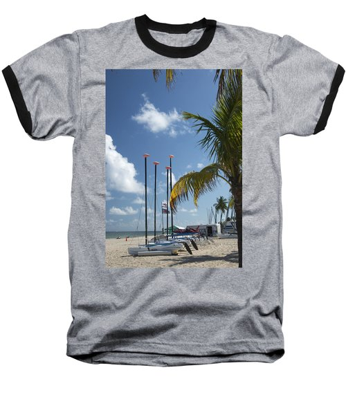 Row Of Sailboats Baseball T-Shirt