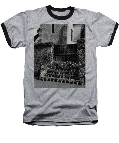 Rows Of Pot Plants Lined On The Steps Of A Garden Baseball T-Shirt