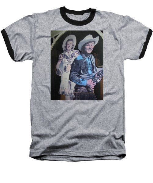 Roy Rogers And Dale Evans #2 Cut-outs Tombstone Arizona 2004 Baseball T-Shirt by David Lee Guss