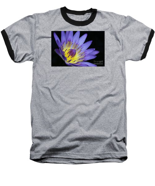Royal Purple Water Lily #14 Baseball T-Shirt