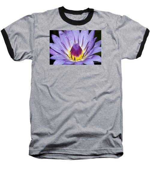 Royal Purple Water Lily #3 Baseball T-Shirt
