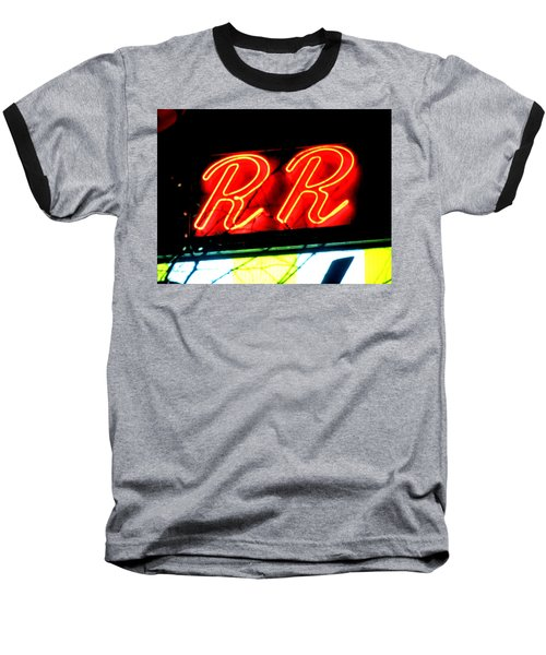 Baseball T-Shirt featuring the painting RR by Luis Ludzska