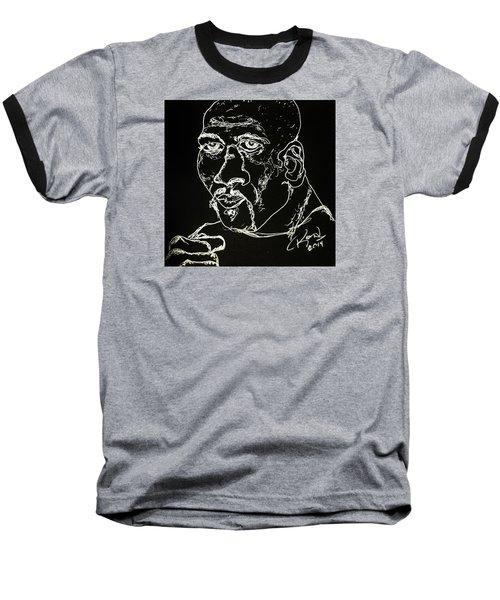 Baseball T-Shirt featuring the drawing Rubin Hurricane Carter by Rand Swift