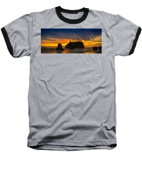 Ruby Beach Olympic National Park Baseball T-Shirt by Steve Gadomski
