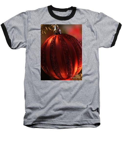 Baseball T-Shirt featuring the photograph Ruby Red Christmas by Linda Shafer