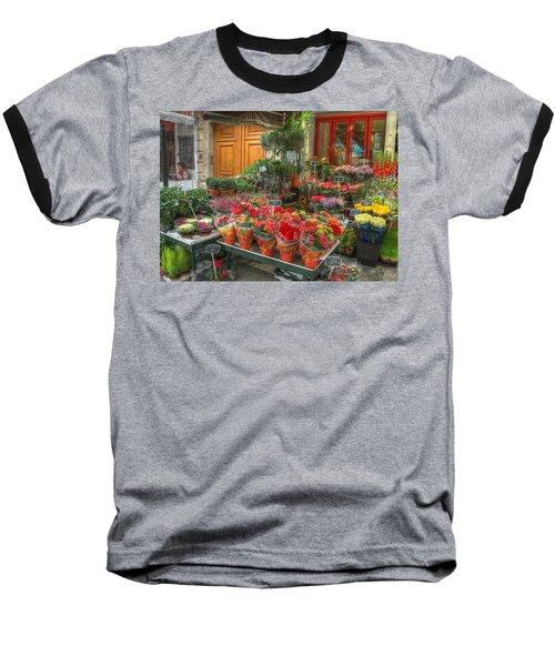 Rue Cler Flower Shop Baseball T-Shirt