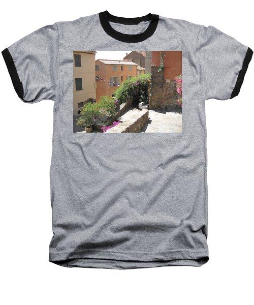 Rue De La Rose Baseball T-Shirt by HEVi FineArt