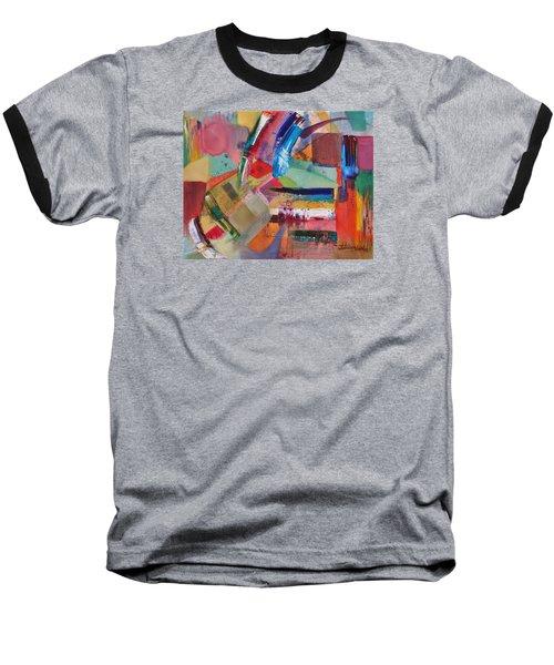 Rugged Strokes Baseball T-Shirt by Jason Williamson