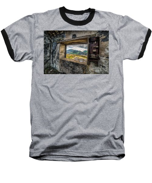 Ruin With A View  Baseball T-Shirt by Adrian Evans