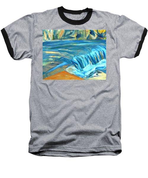 Run River Run Over Rocks In The Sun Baseball T-Shirt
