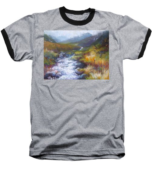 Running Down - Landscape View From Hatcher Pass Baseball T-Shirt