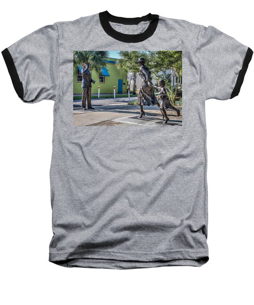 Running For The Train Baseball T-Shirt by Jane Luxton