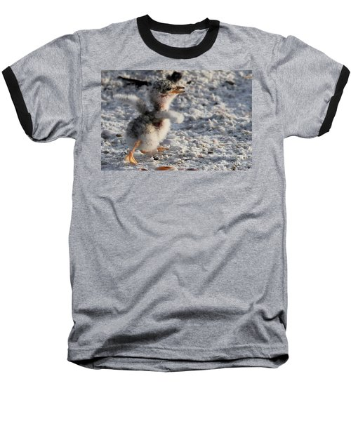Running Free - Least Tern Baseball T-Shirt