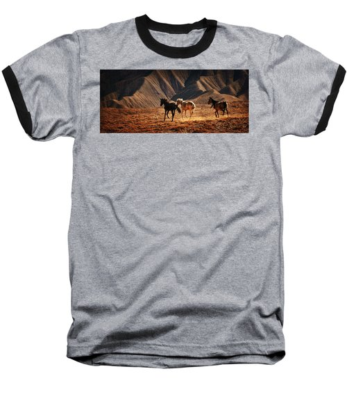 Baseball T-Shirt featuring the photograph Running Free by Priscilla Burgers