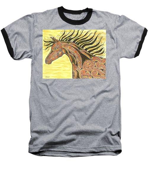 Running Wild Horse Baseball T-Shirt