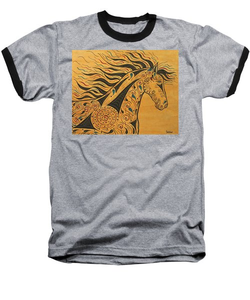 Runs With The Wind Baseball T-Shirt by Susie WEBER