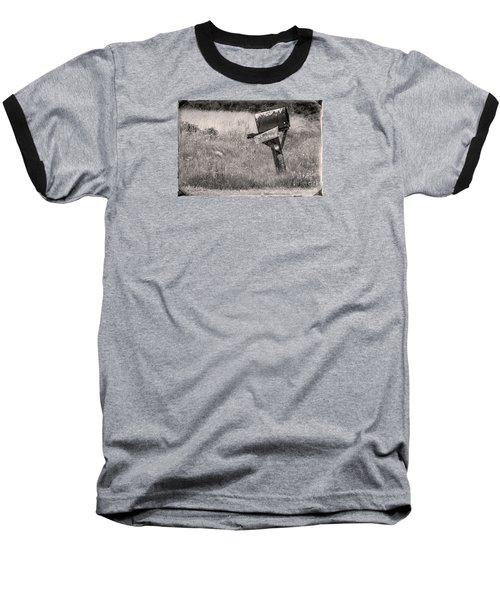 Baseball T-Shirt featuring the photograph Rural Route Mail Call  by Jean OKeeffe Macro Abundance Art
