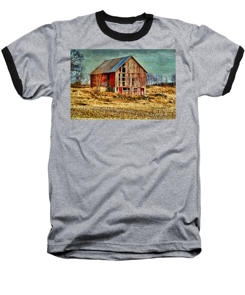 Rural Rustic Vermont Scene Baseball T-Shirt by Deborah Benoit