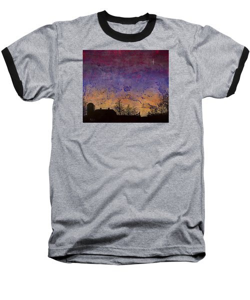 Rural Sunset Baseball T-Shirt by Jack Malloch
