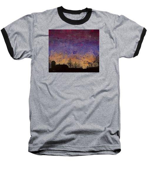 Rural Sunset Baseball T-Shirt