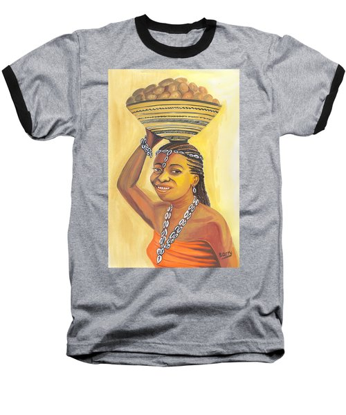 Rural Woman From Cameroon Baseball T-Shirt by Emmanuel Baliyanga