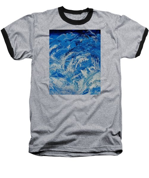 Baseball T-Shirt featuring the painting Rush by Katherine Young-Beck