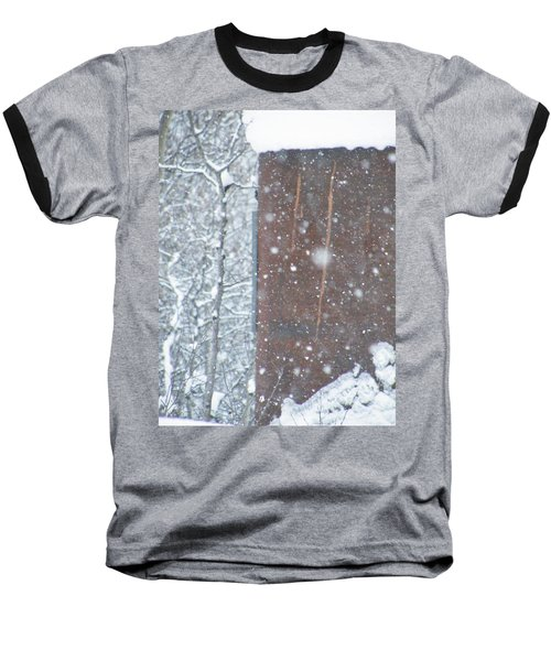 Rust Not Sleeping In The Snow Baseball T-Shirt