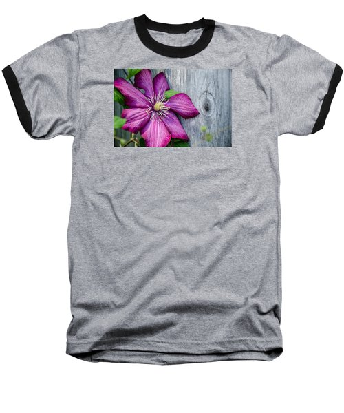 Baseball T-Shirt featuring the photograph Rustic Clematis by Susan  McMenamin