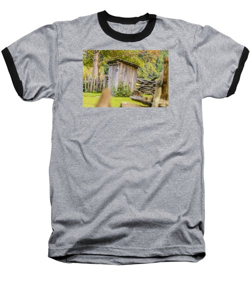 Rustic Fence And Outhouse Baseball T-Shirt