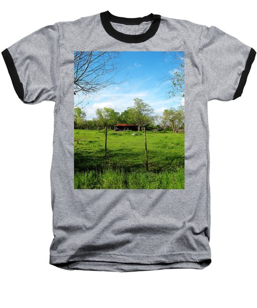 Rustic Land Of Beauty - Rural Texas Baseball T-Shirt