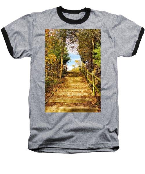 Rustic Stairway Baseball T-Shirt