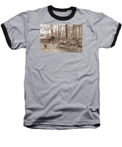 Rustic Wagon Baseball T-Shirt