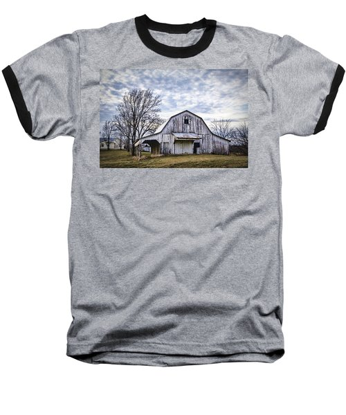 Rustic White Barn Baseball T-Shirt