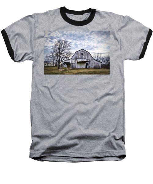 Rustic White Barn Baseball T-Shirt by Cricket Hackmann