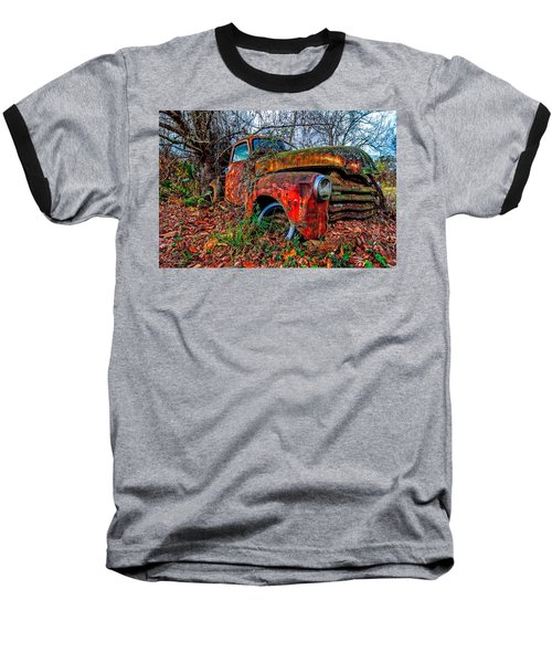 Baseball T-Shirt featuring the photograph Rusty 1950 Chevrolet by Andy Crawford