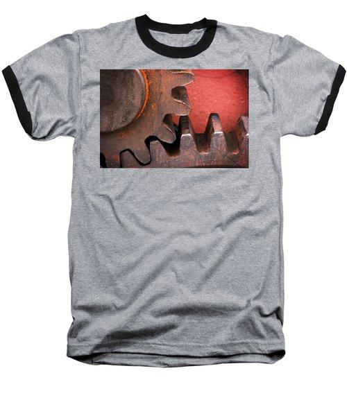 Rusty And Metallic Gear Wheel Baseball T-Shirt