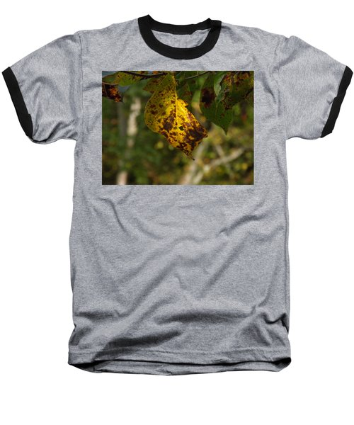 Baseball T-Shirt featuring the photograph Rusty Leaf by Nick Kirby