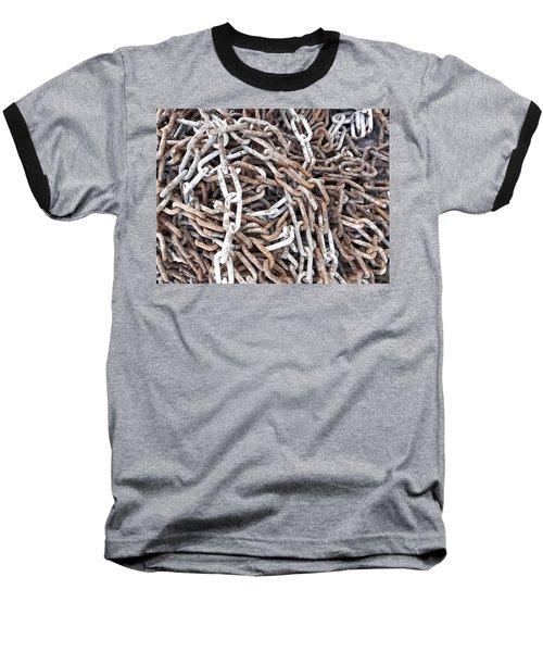 Baseball T-Shirt featuring the photograph Rusty Links by Cheryl Hoyle