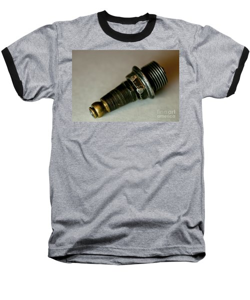 Baseball T-Shirt featuring the photograph Rusty Old Spark Plugs by Wilma  Birdwell