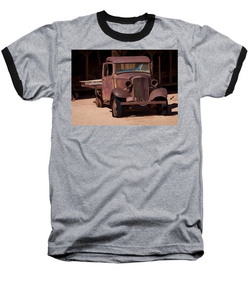 Rusty Truck 04 Baseball T-Shirt by Wally Hampton
