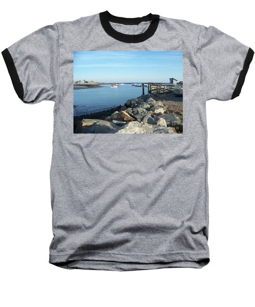 Rye Harbor  Baseball T-Shirt by Eunice Miller