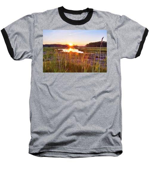 Rye Marsh Sunset Baseball T-Shirt