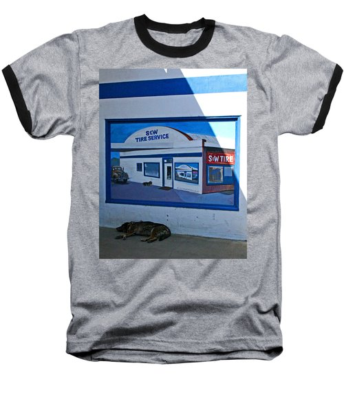 S And W Tire Service Mural Baseball T-Shirt