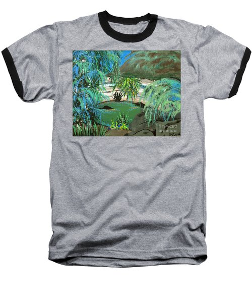 Baseball T-Shirt featuring the painting Sacred Cenote At Chichen Itza by Alys Caviness-Gober
