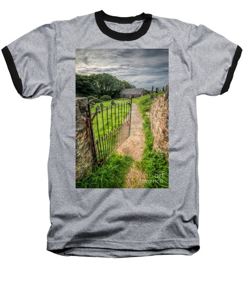 Sacred Path Baseball T-Shirt by Adrian Evans