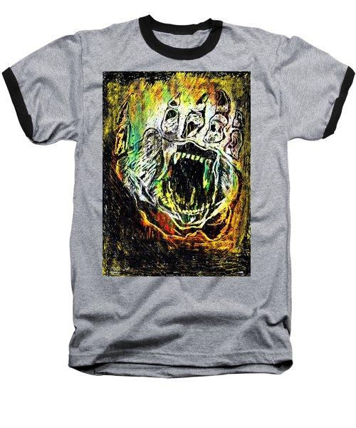 Sacred Paw Impression Baseball T-Shirt by Ayasha Loya