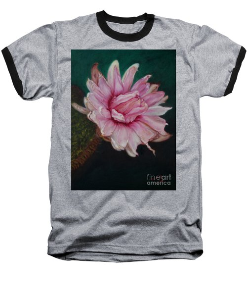 Baseball T-Shirt featuring the painting Sacred Red Lotus by Mukta Gupta