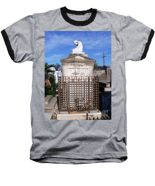 Baseball T-Shirt featuring the photograph Saddest Statue Tomb by Alys Caviness-Gober