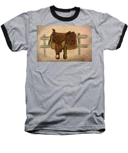 Saddle Up Baseball T-Shirt by Christy Saunders Church