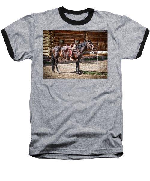 Saddled And Waiting Baseball T-Shirt